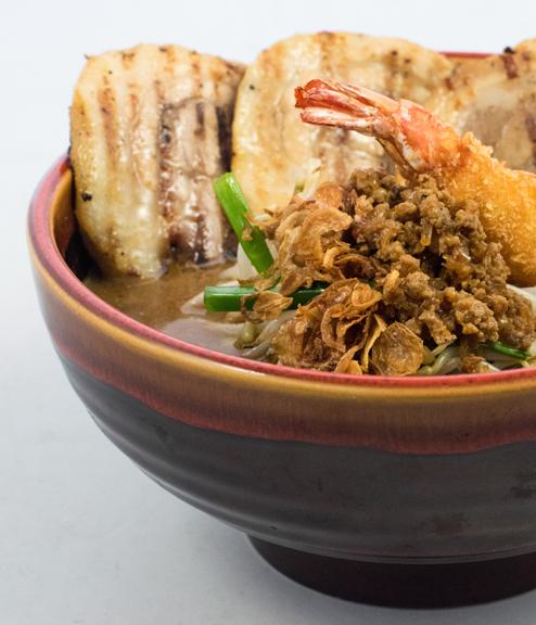 ramen bowl with reactive glaze